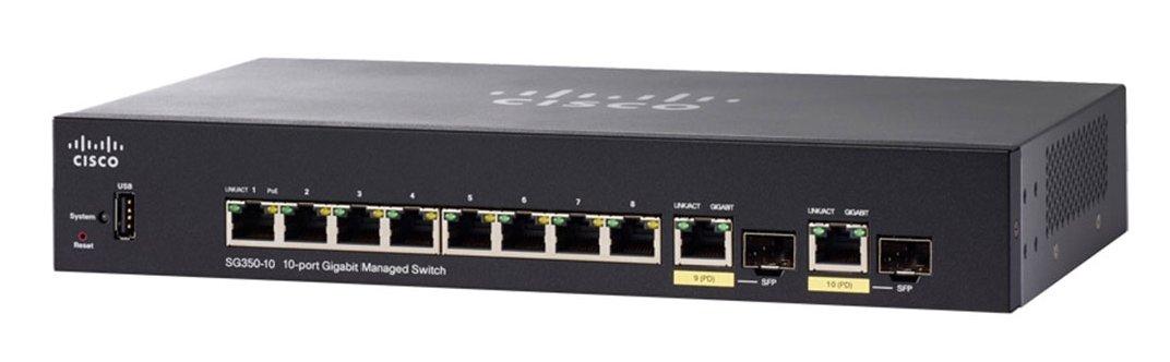 Switch Cisco SG350-10-K9 fara PoE 10x1000Mbps-RJ45