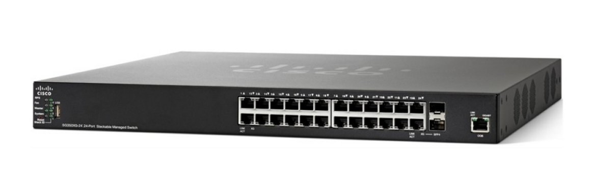 Switch Cisco SG350X-24-K9 fara PoE stackabil 24x1000Mbps-RJ45 + 2xSFP+