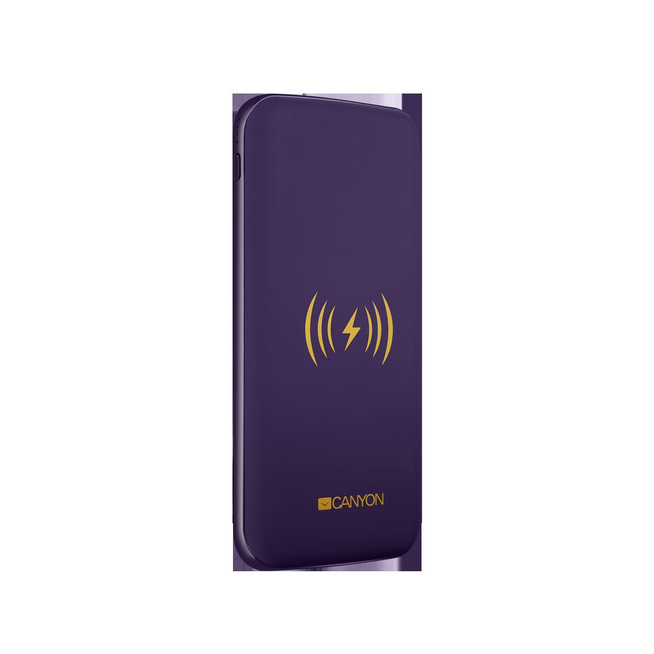 Baterie Externa Wireless Canyon CNS-TPBW8P 8000mAh Violet