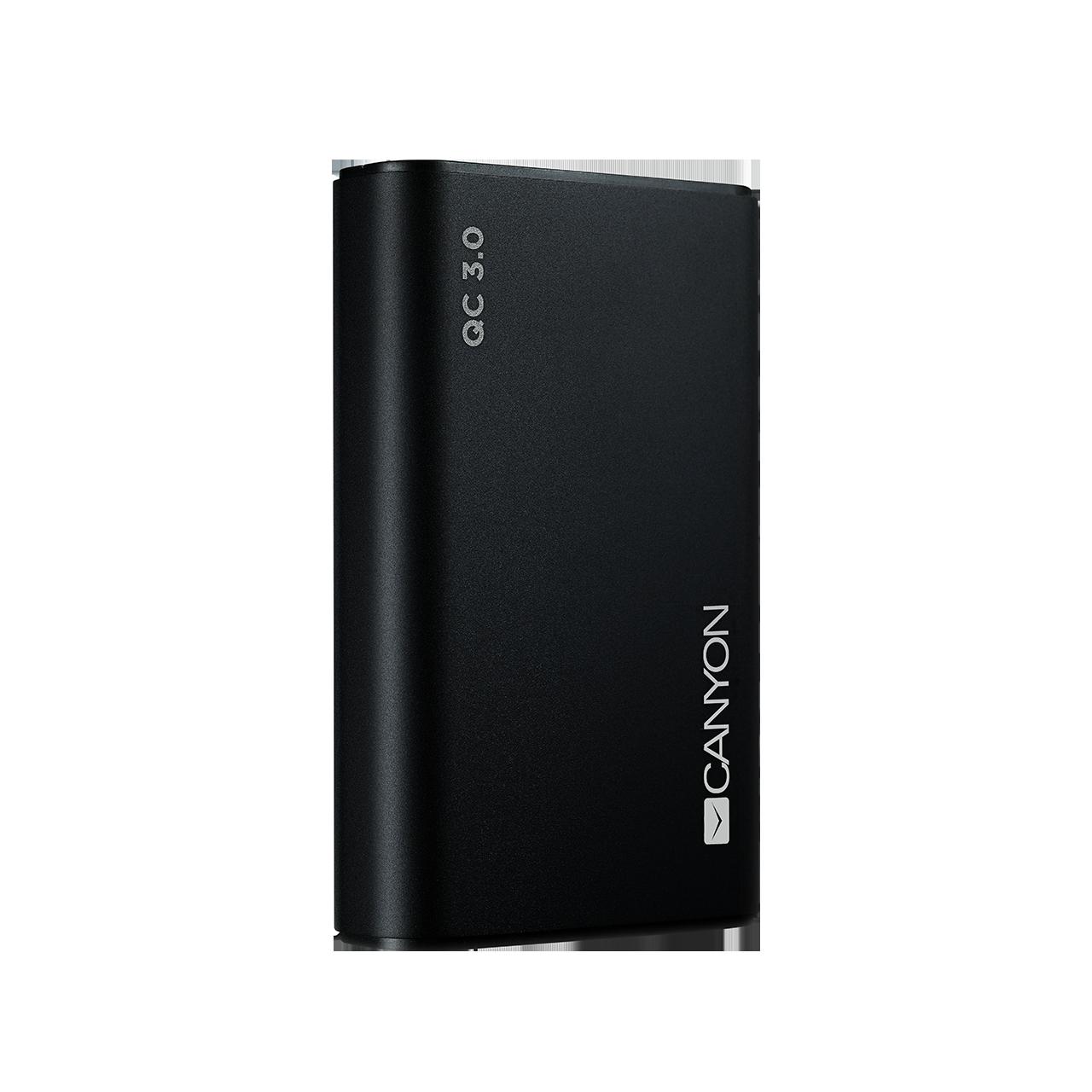 Baterie Externa Canyon CND-TPBQC10B Quick Charge 3.0 10000mAh Negru