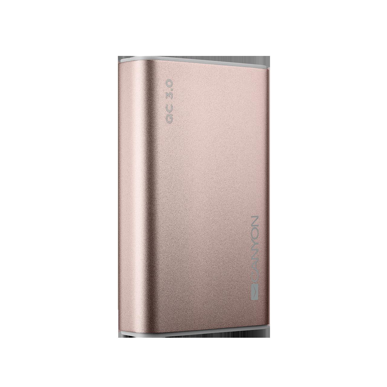 Baterie Externa Canyon CND-TPBQC10RG Quick Charge 3.0 10000mAh Rose Gold