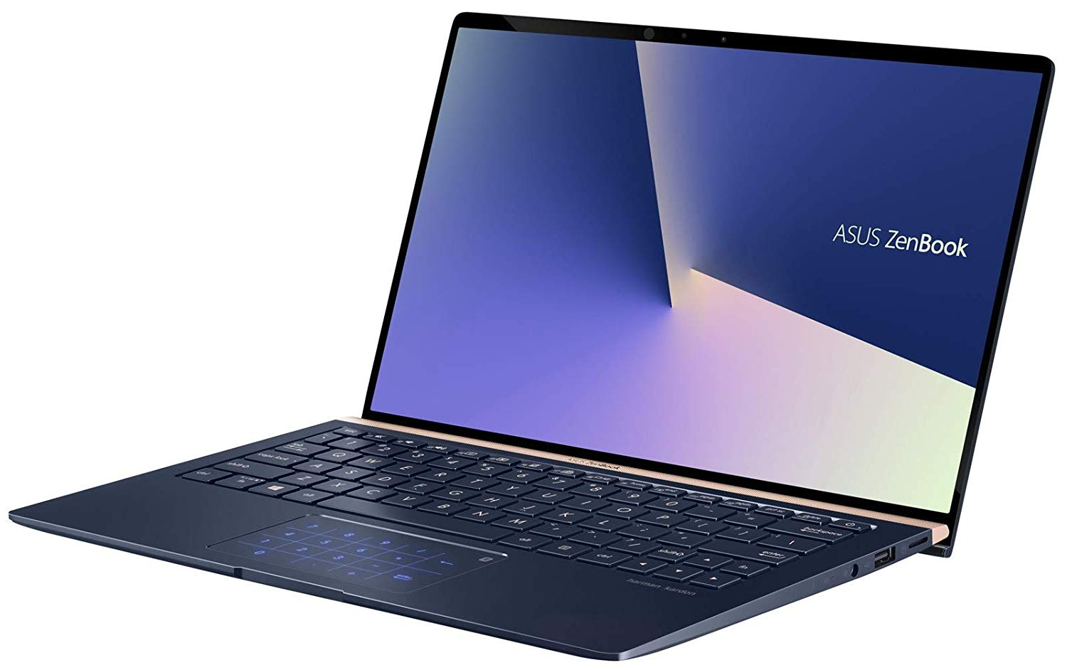 Ultrabook Asus ZenBook UX433FA 14 Full HD Intel Core i5-8265U RAM 8GB SSD 256GB Windows 10 Pro Albastru