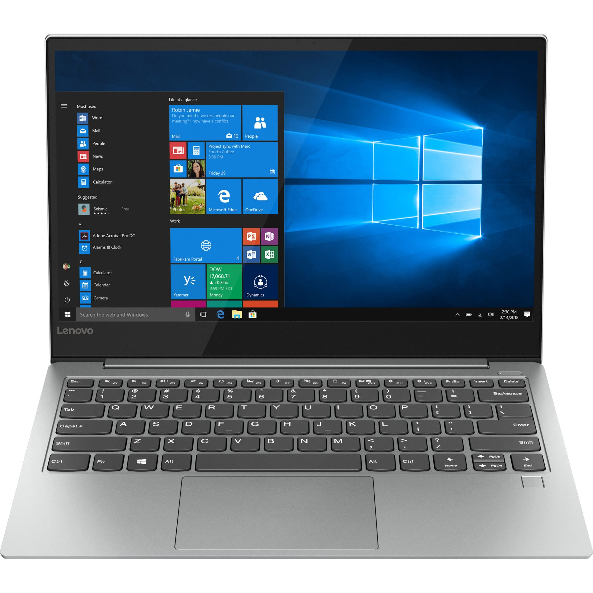 Ultrabook Lenovo Yoga S730 13.3 Full HD Intel Core i5-8265U RAM 8GB SSD 512GB Windows 10 Home Argintiu