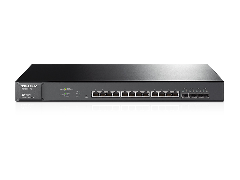 Switch Tp-Link JetStream T1700X-16TS cu management fara PoE 12x1000Mbps RJ45 4 x SFP