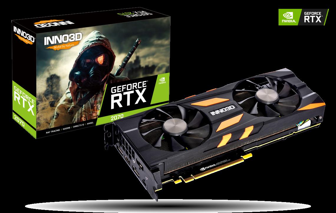 Placa Video Inno3D GeForce RTX 2070 X2 OC 8GB DDR6 256 biti