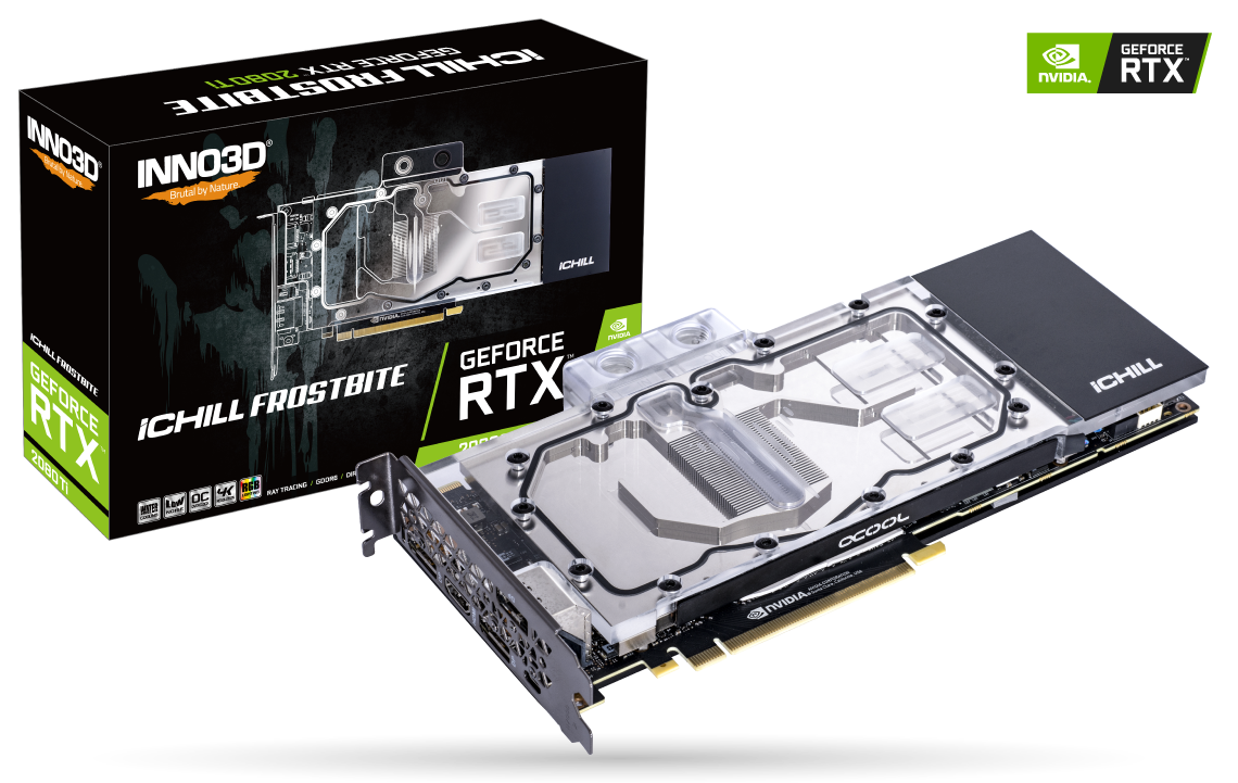 Placa Video Inno3D GeForce RTX 2080 Ti iChill FROSTBITE 11GB GDDR6 352 biti