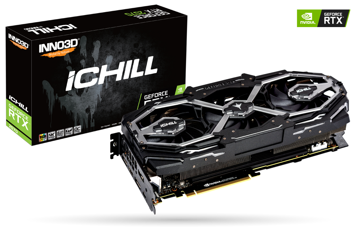 Placa Video Inno3D GeForce RTX 2070 iChill X3 Jekyll 8GB GDDR6 256 biti