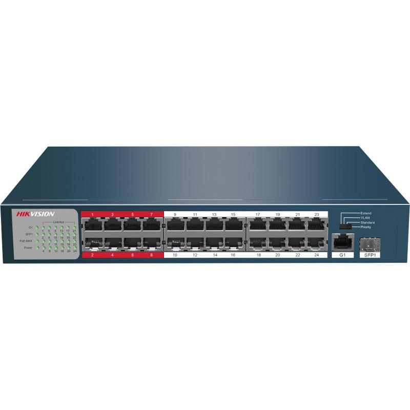 Switch Hikvision DS-3E0326P-E/M fara management cu PoE 24x100Mbps-RJ45