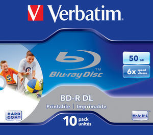 BD-R DL 50GB 6x Wide Printable Jewel Case 10 pret pe bucata