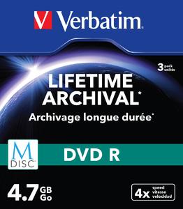 Verbatim MDISC Lifetime Archival DVD R 4x 4.7GB Slimcase 3 pret pe bucata