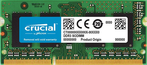 Memorie Notebook Micron Crucial CT4G3S160BM 4GB DDR3L 1600MHz pentru Mac