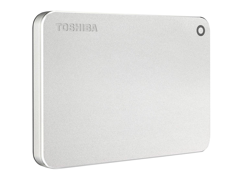 Hard Disk Extern Toshiba Canvio Premium 2TB USB 3.0 Silver Metallic