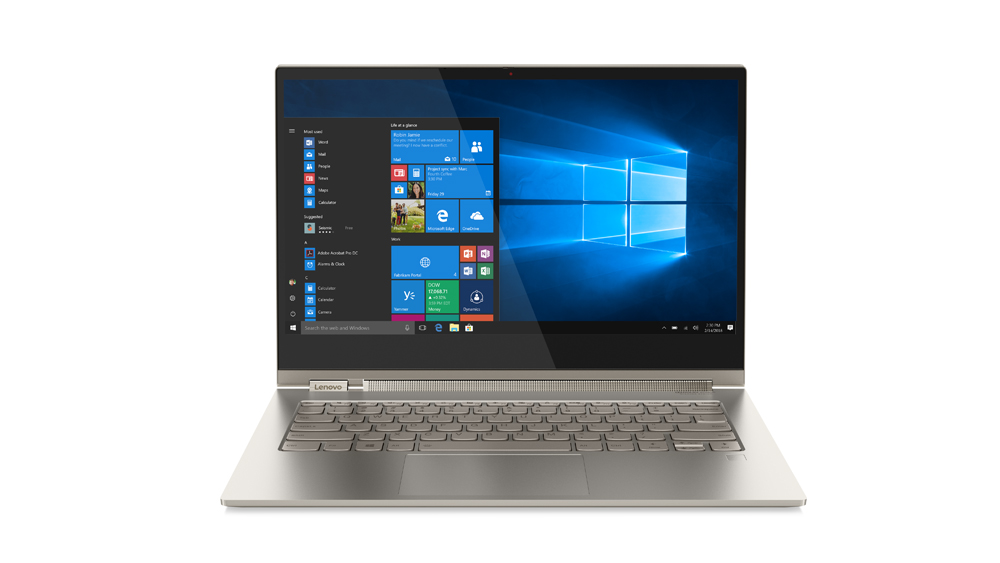 Ultrabook Lenovo Yoga C930 13.9 Ultra HD Intel Core i7-8550U RAM 16GB SSD 2TB Windows 10 Home Argintiu