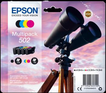 Pachet 4 cartuse Epson Multipack 502 Bk/C/Y/M