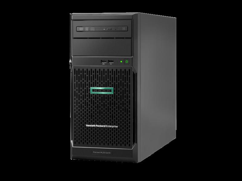 Server HPE ProLiant ML30 Gen10 Intel Xeon E-2124 No HDD 8GB RAM 4xLFF 350W