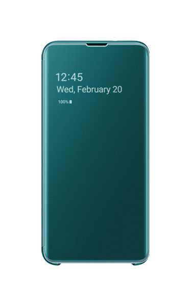 Husa Samsung Clear View Cover pentru Galaxy S10e (G970F) Green