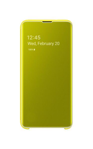 Husa Samsung Clear View Cover pentru Galaxy S10e (G970F) Yellow