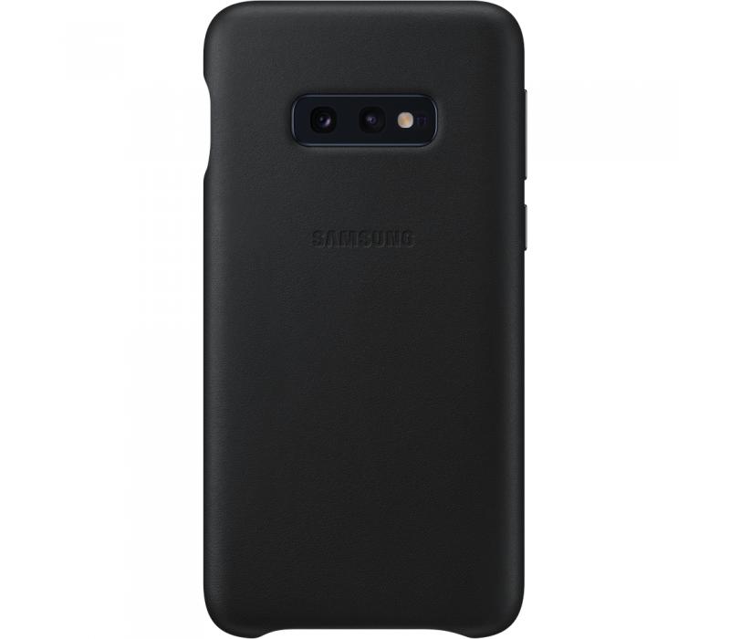 Capac protectie spate Samsung Leather Cover pentru Galaxy S10e (G970F) Black