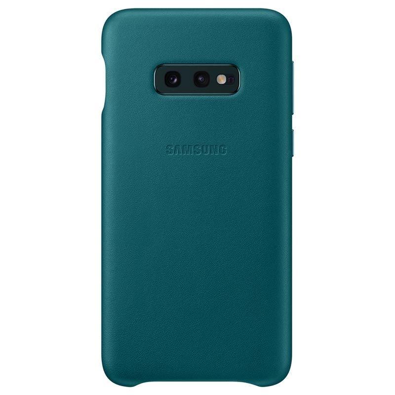 Capac protectie spate Samsung Leather Cover pentru Galaxy S10e (G970F) Green