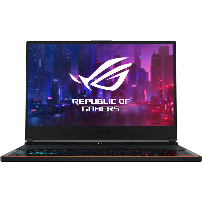 Notebook Asus ROG Zephyrus S GX531GX 15.6 Full HD Intel Core i7-8750H RTX2080 Max Q-8GB RAM 24GB SSD 512GB Windows 10 Home Negru