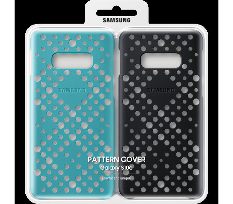 Capac protectie spate Pattern Cover pentru Galaxy S10e (G970F) Black & Green