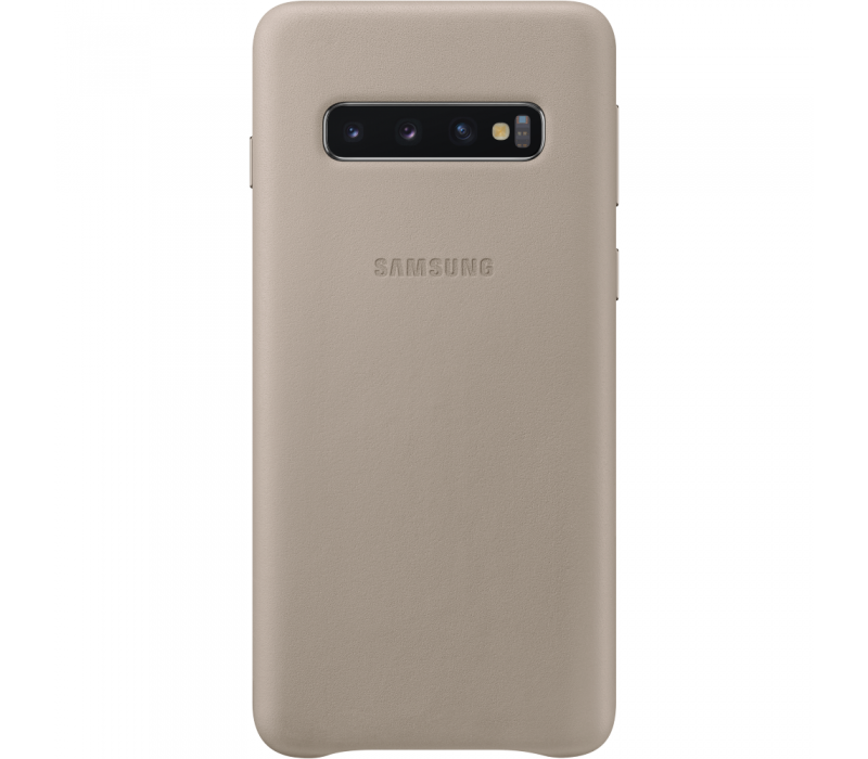 Capac protectie spate Samsung Leather Cover pentru Galaxy S10 (G973F) Grey