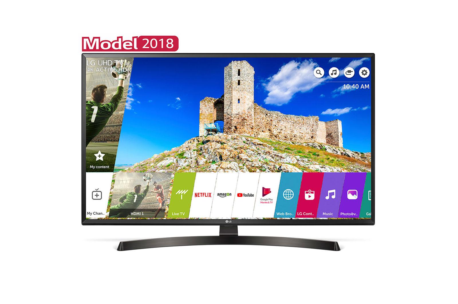 Televizor LED LG Smart TV 49UK6470PLC 123cm 4K Ultra HD Negru
