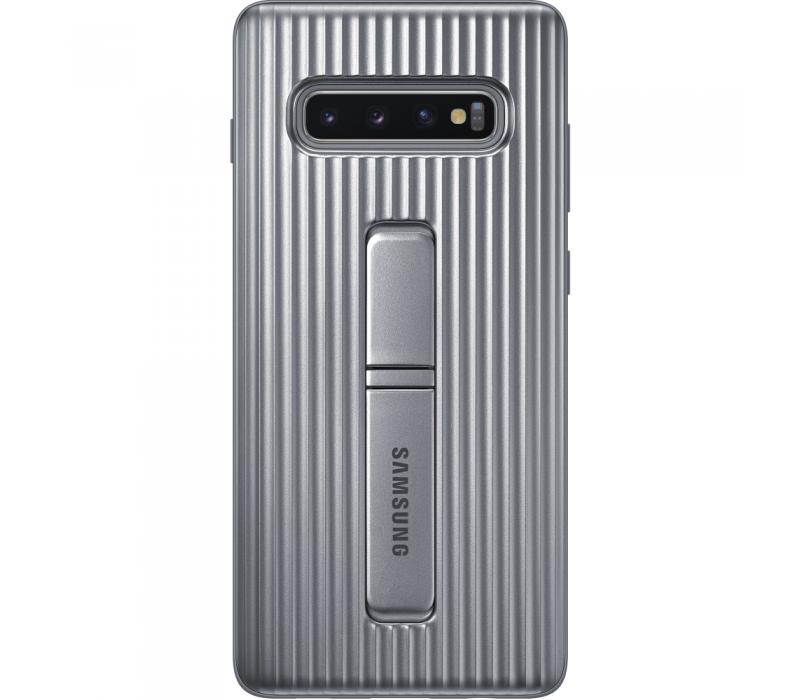 Capac protectie spate Samsung Protective Standing pentru Galaxy S10 Plus (G975F) Silver