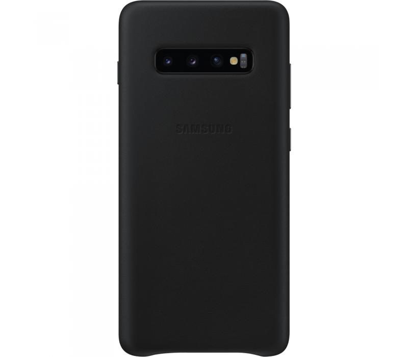 Capac protectie spate Samsung Leather Cover pentru Galaxy S10 Plus (G975F) Black