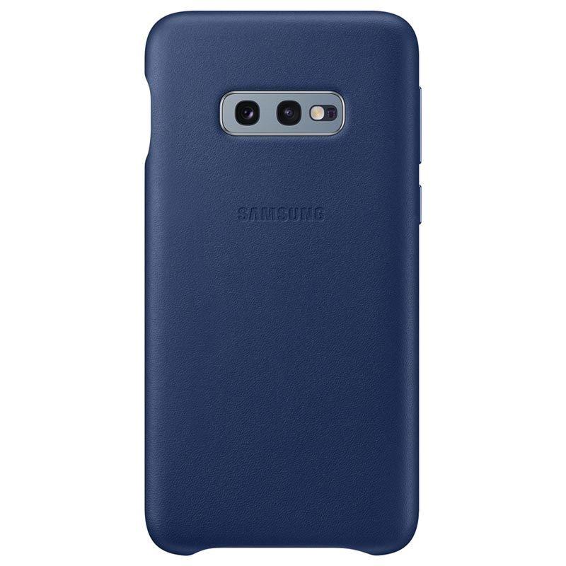 Capac protectie spate Samsung Leather Cover pentru Galaxy S10e (G970F) Bleumarin
