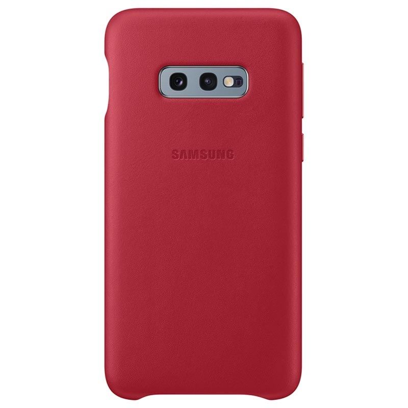 Capac protectie spate Samsung Leather Cover pentru Galaxy S10e (G970F) Red