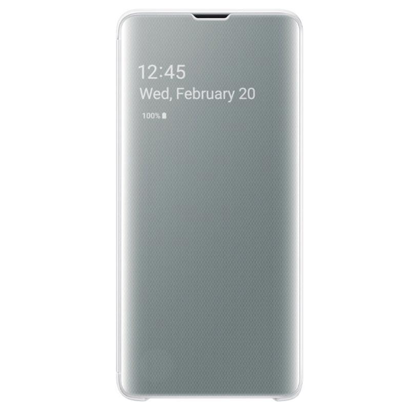 Husa Samsung Clear View Cover pentru Galaxy S10 (G973F) White