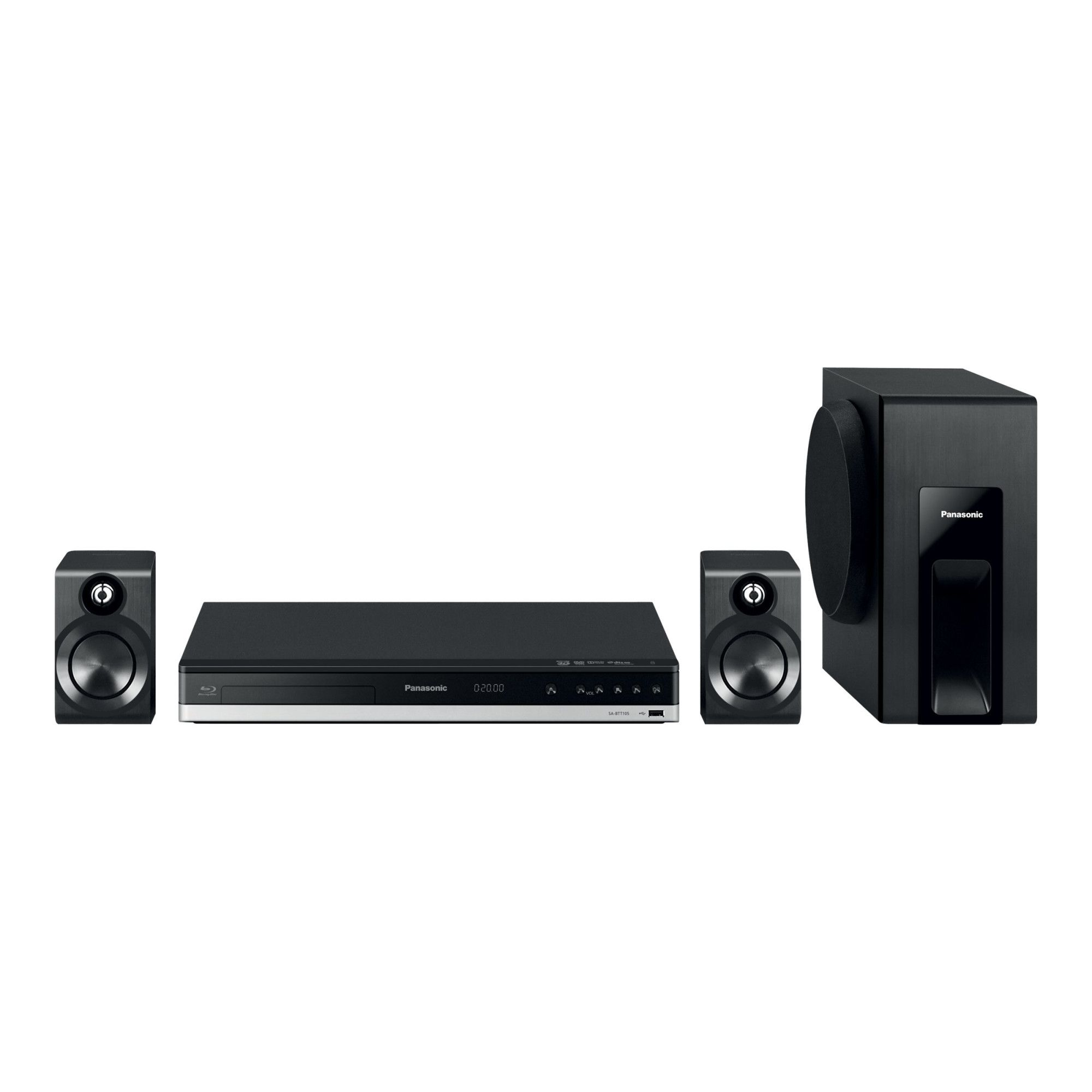Sistem Home Cinema Panasonic SC-BTT105EG9 2.1 300W RMS Negru