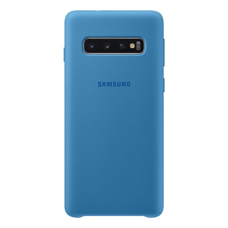 Capac protectie spate Samsung Silicone Cover pentru Galaxy S10 (G973F) Blue