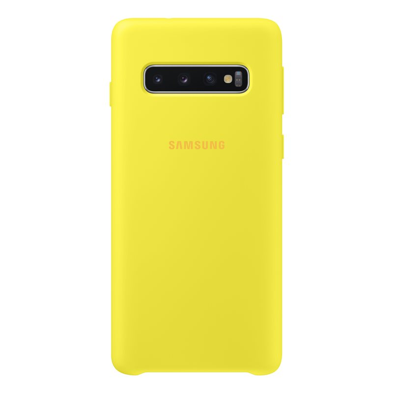 Capac protectie spate Samsung Silicone Cover pentru Galaxy S10 (G973F) Yellow