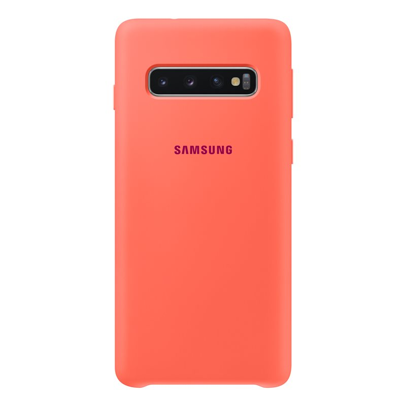 Capac protectie spate Samsung Silicone Cover pentru Galaxy S10 (G973F) Pink