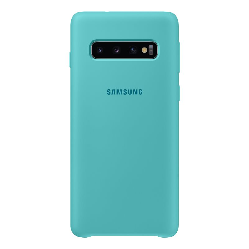 Capac protectie spate Samsung Silicone Cover pentru Galaxy S10 (G973F) Green