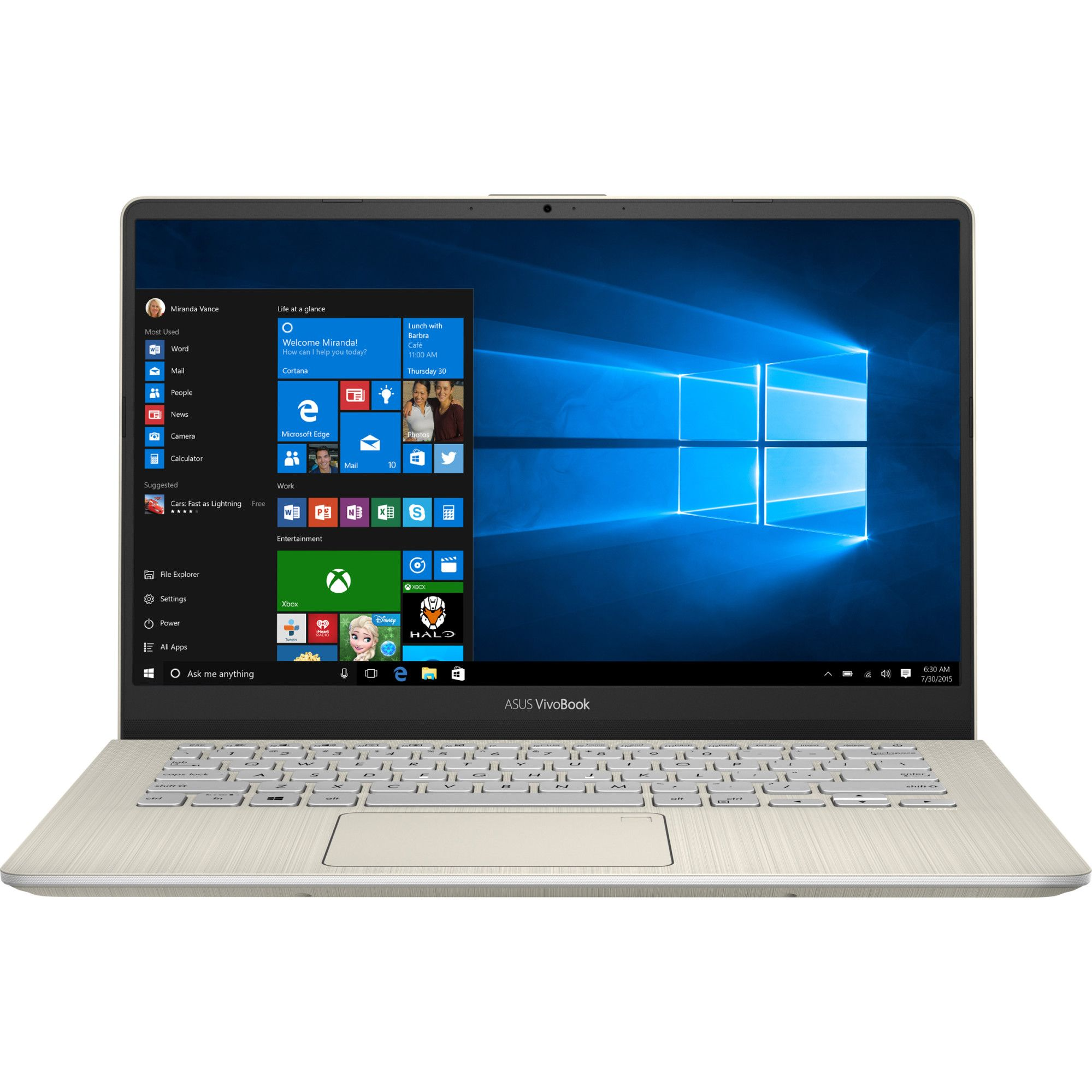Notebook Asus VivoBook S430FA 14 Full HD Intel Core i5-8265U RAM 8GB SSD 256GB Windows 10 Home Auriu