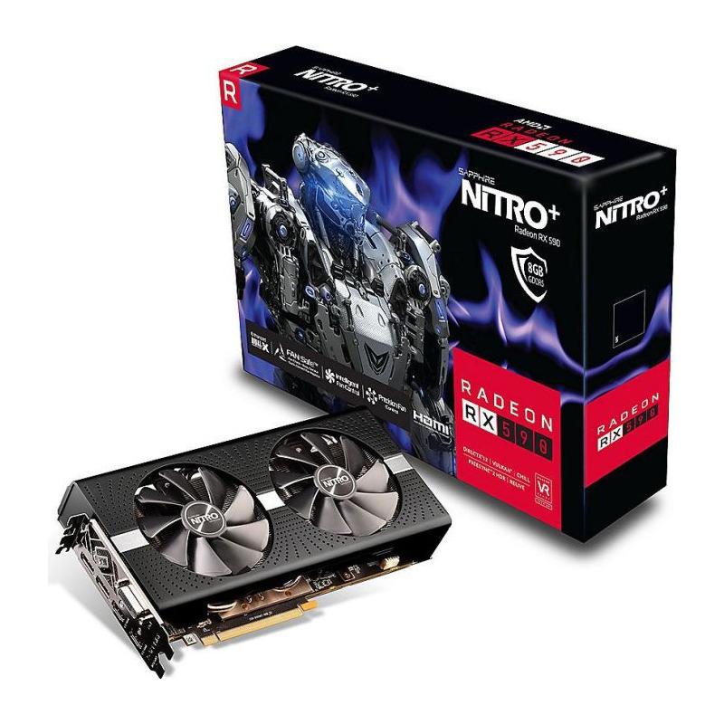 Placa Video Sapphire Radeon RX 590 Nitro+ OC 8GB GDDR5 256 biti