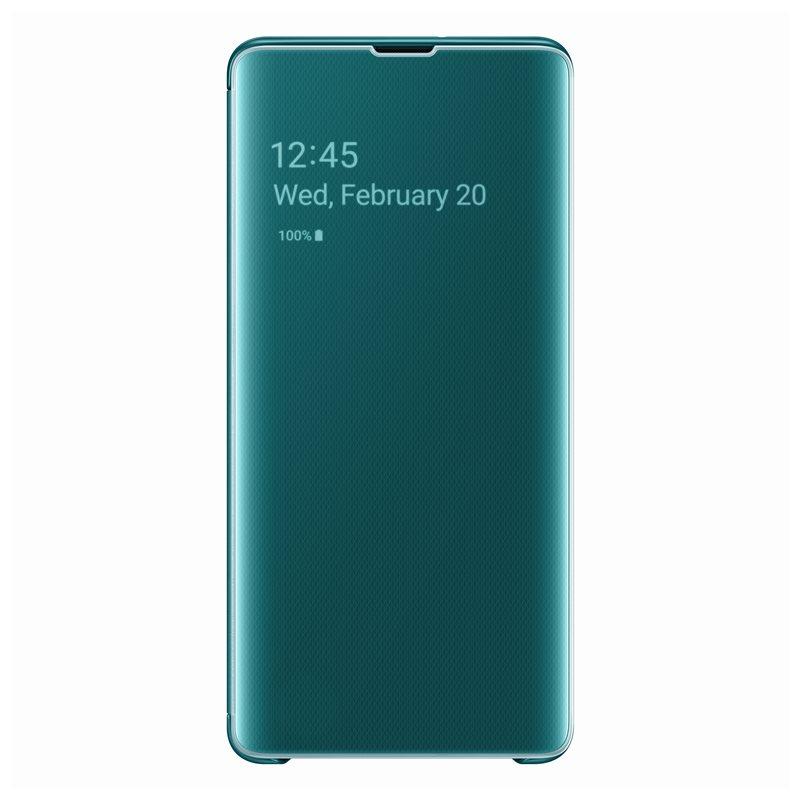 Husa Samsung Clear View Cover pentru Galaxy S10 Plus (G975F) Green