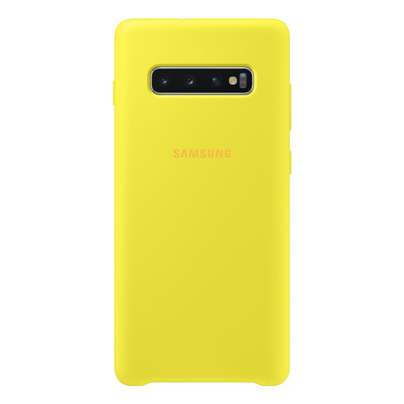 Capac protectie spate Samsung Silicone Cover pentru Galaxy S10 Plus (G975F) Yellow
