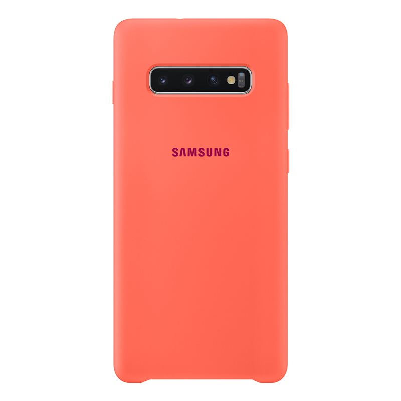 Capac protectie spate Samsung Silicone Cover pentru Galaxy S10 Plus (G975F) Pink