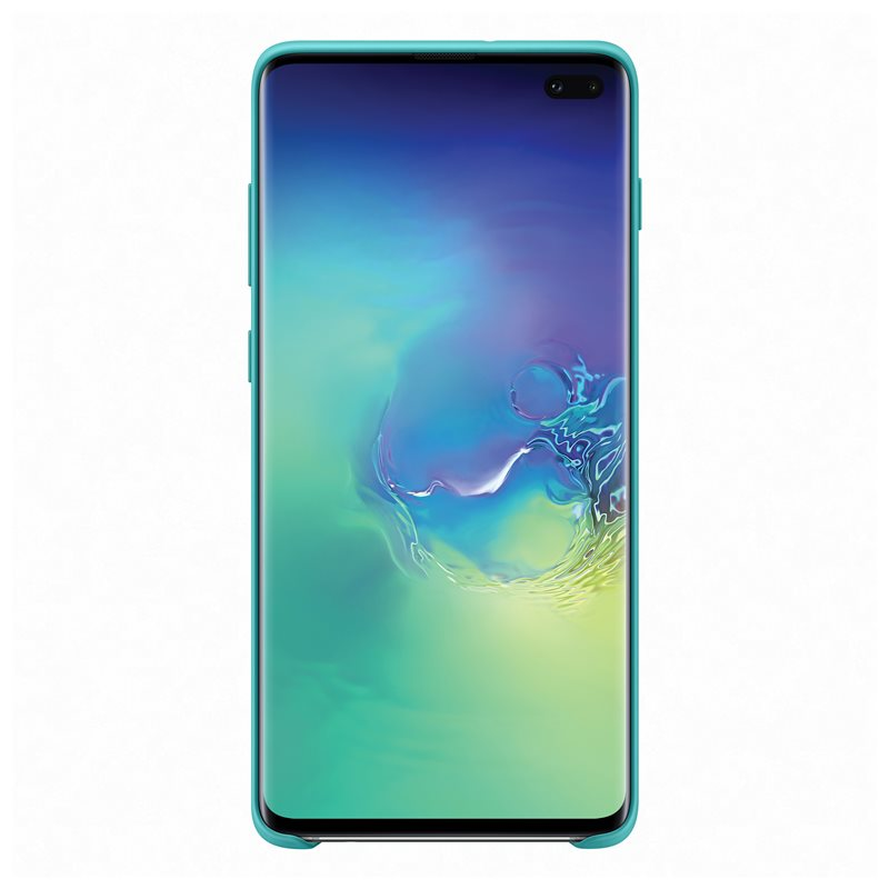 Capac protectie spate Samsung Silicone Cover pentru Galaxy S10 Plus (G975F) Green