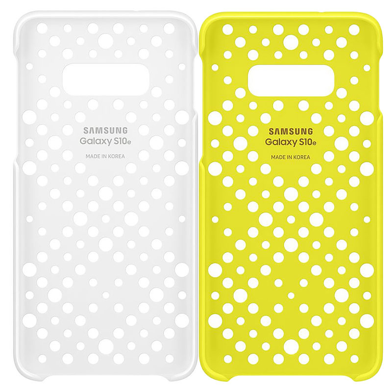 Capac protectie spate Samsung Pattern Cover pentru Galaxy S10e (G970F) White & Yellow