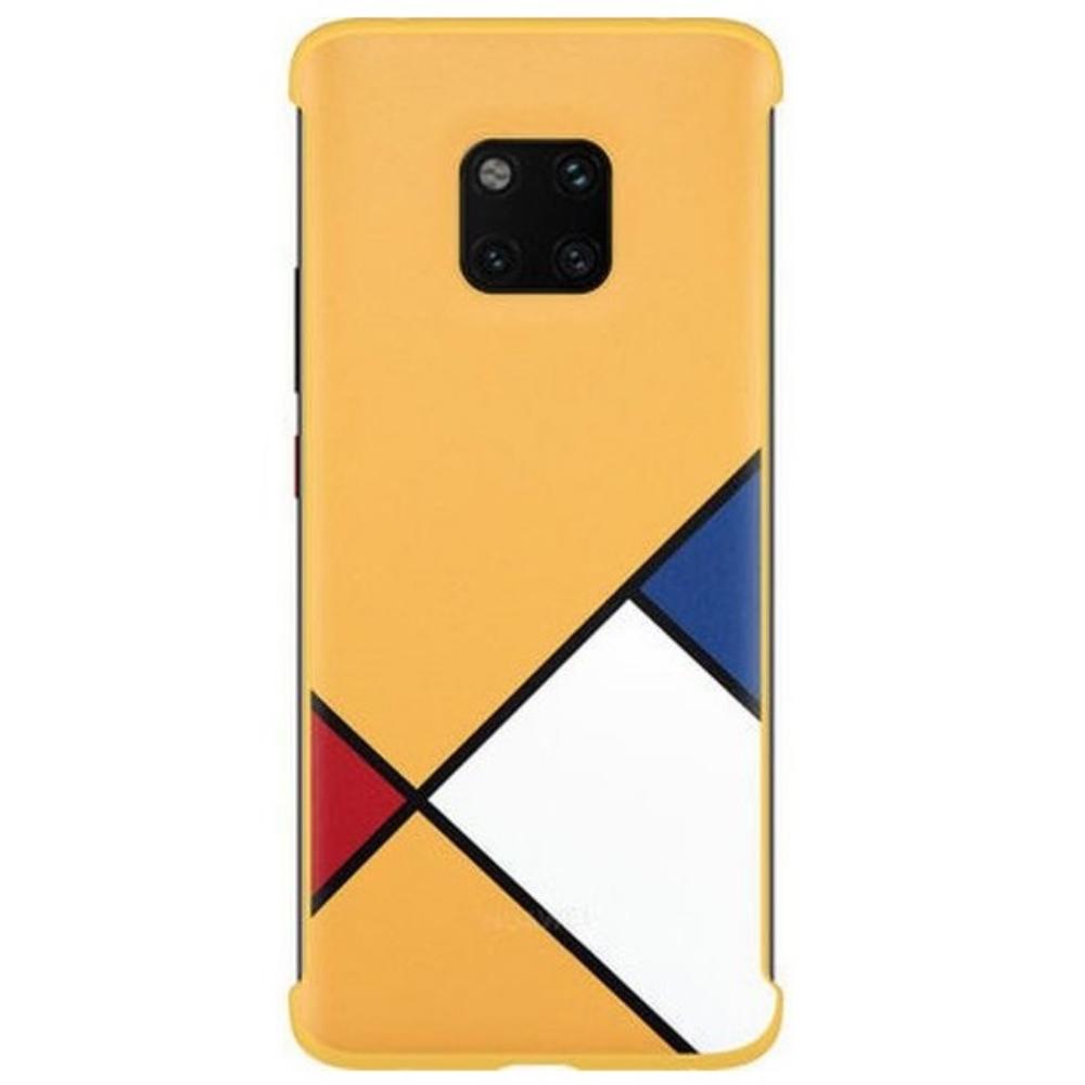 Capac protectie spate Abstract Art Theme Huawei pentru Mate 20 Pro Yellow