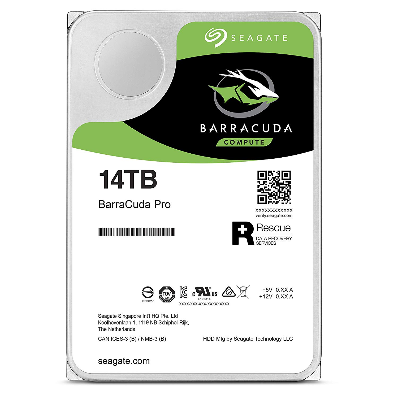 Hard Disk Desktop Seagate BarraCuda PRO 14TB 7200RPM SATA III 3.5