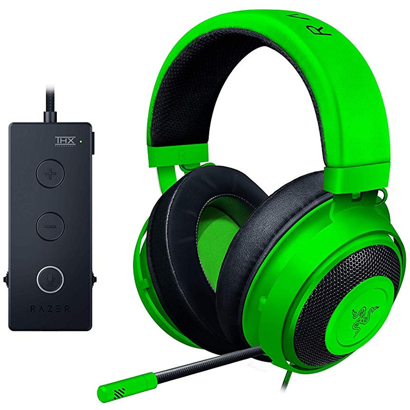 Casti Gaming cu microfon Razer Kraken Tournament Edition Green