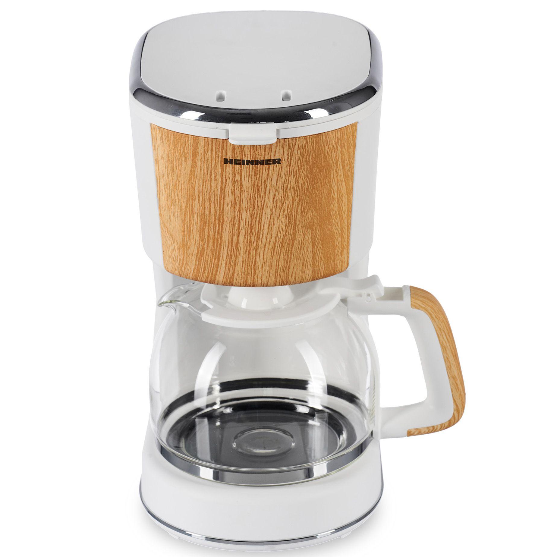 Cafetiera Heinner Soft Wood HCM-WH900BB 900W 1.25L Alb