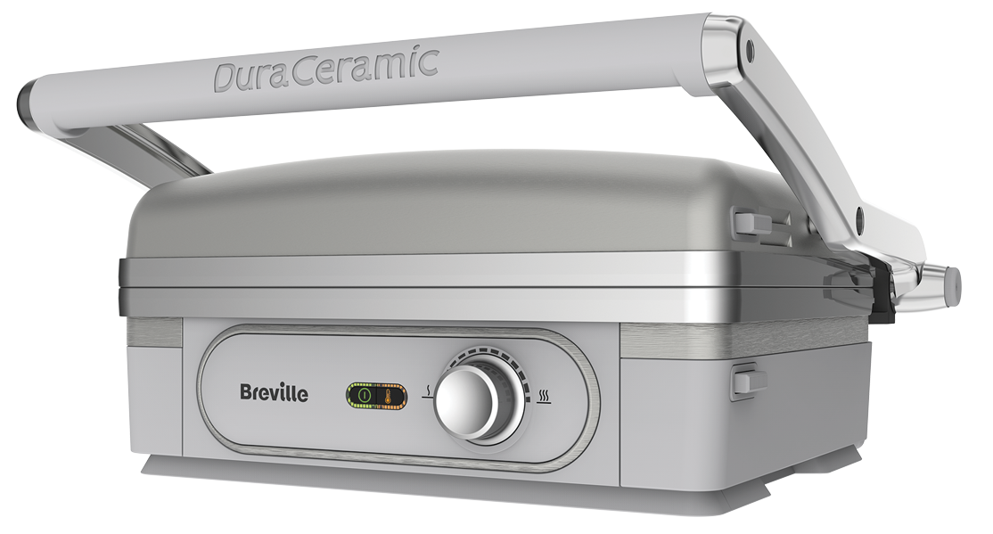 Gratar electric Breville Ultimate Grill DuraCeramic 1800W Argintiu