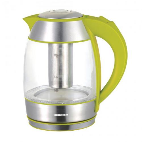 Fierbator de apa cu filtru de ceai Heinner Charm HEK-TF2200GR 2200W 1.8L Galben